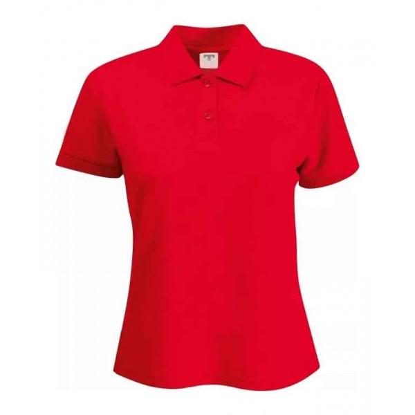 Camiseta Pólo Baby look em Piquet cores diversas c/ bordado