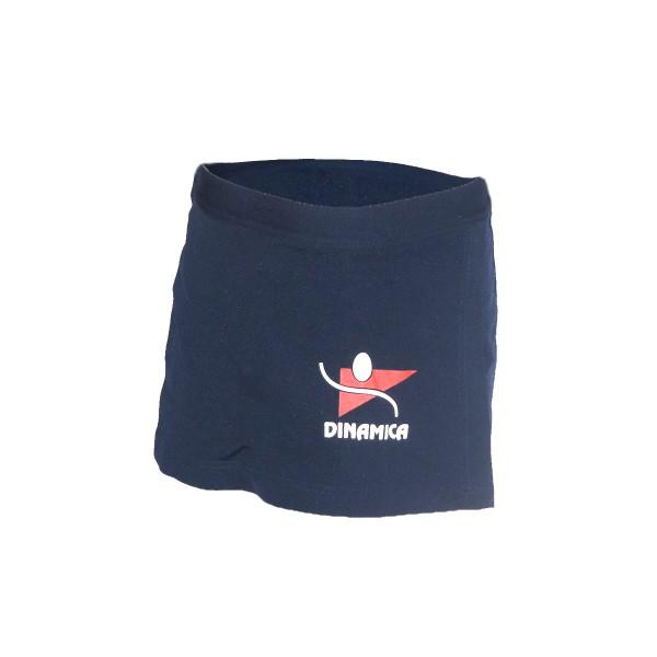 Short-saia helanca escolar azul marinho