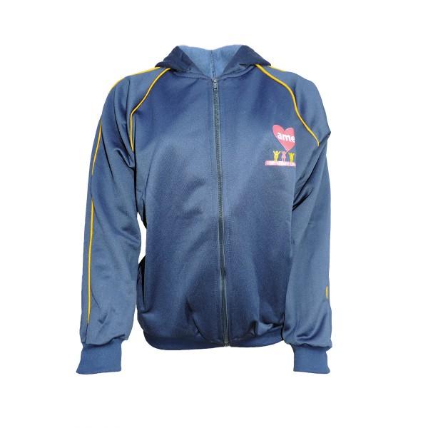 Blusa de Moletom Azul Marinho com Zíper