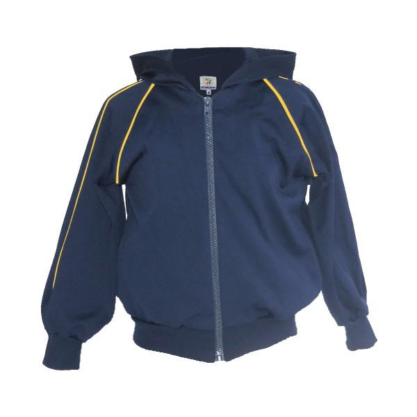 Blusa de Poliamida - Com Touca e Bolso Azul Marinho