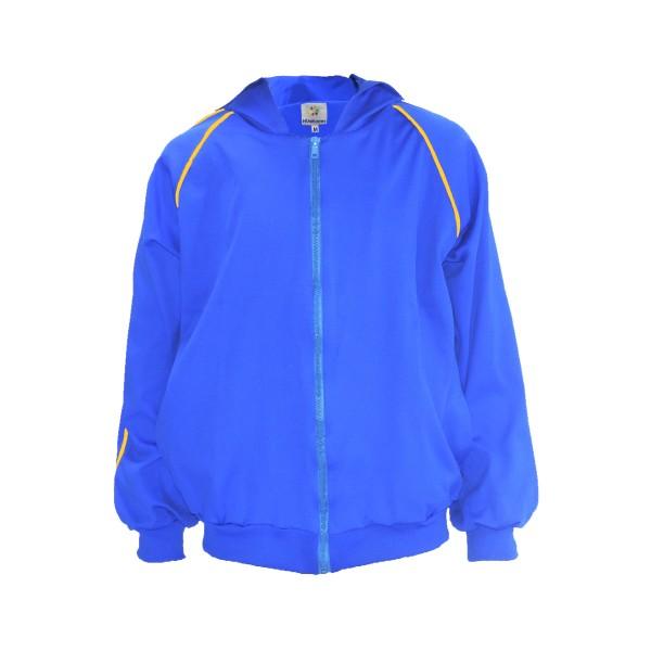 Blusa de Poliamida - Com Touca e Bolso - Azul Royal