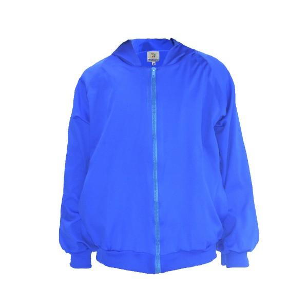 Blusa de Poliamida - Com Touca e Bolso - Azul Royal Lisa