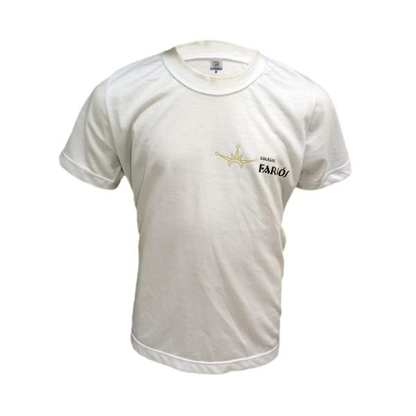 Camiseta Básica Branca Infantil em Poliéster c/ transfer - OK