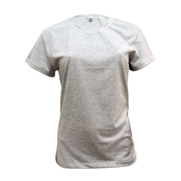 Camiseta Básica Baby Look em P.A. Mescla c/ silk - OK