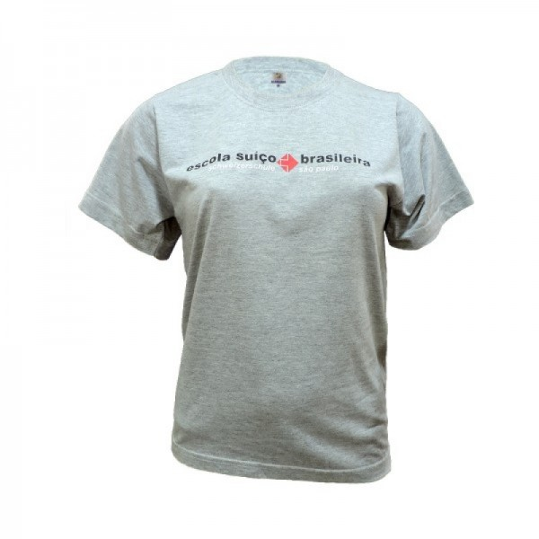Camiseta Básica em P.A. Mescla c/ silk - OK