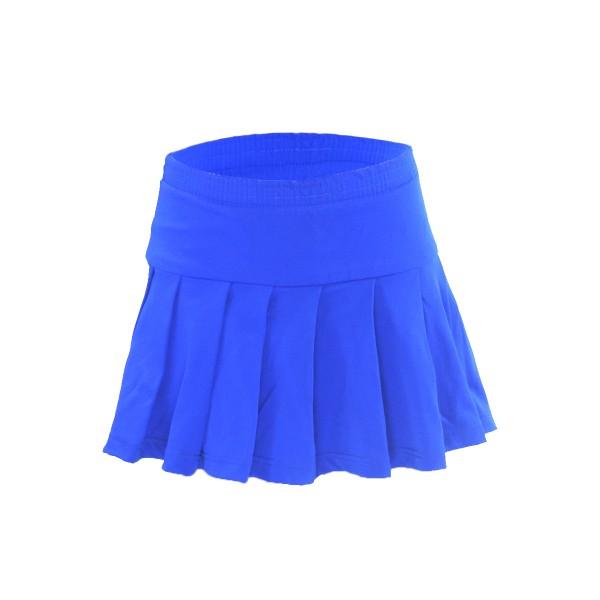 Saia Pregueada Azul Royal