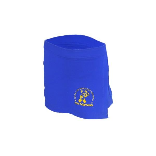 Short-Saia Helanca Infantil Azul Royal